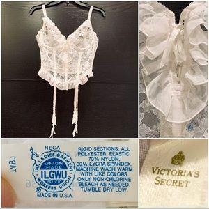 1970s Victorias Secret Gold label Corset Garters